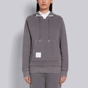THOM BROWNE Classic Pullover Hoodie Relaxed Fit